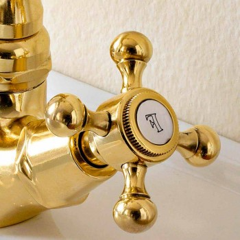 Vintage Style Brass Single Hole Bidet Mixer Made in Italy - Ursula