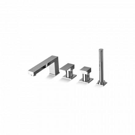 Made in Italy Design Brass 4 Hole Bathtub Mixer - Panela