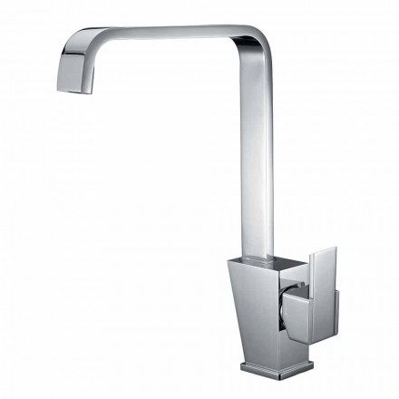 Mixer with Adjustable Spout for Washbasin in Brass Made in Italy - Alibi