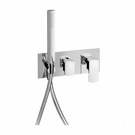 Modern Design Built-in Shower Mixer in Brass Made in Italy - Sika