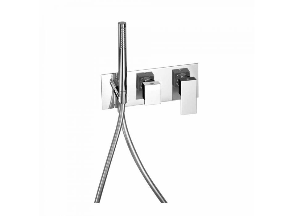 Built-in Shower Mixer with Brass Diverter Made in Italy - Panela