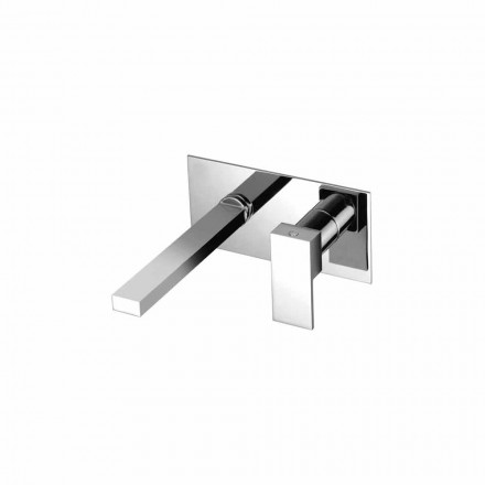 Wall Mounted Washbasin Mixer for Bathroom Single Plate Made in Italy - Panela