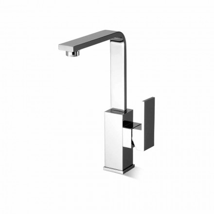 High Swivel Spout Bathroom Sink Mixer Made in Italy - Panela
