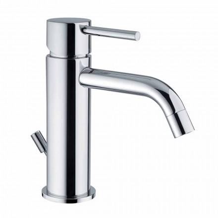 Bathroom Basin Mixer in Chromed Brass Modern Design Made in Itlay - Liro