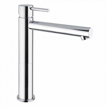 Bathroom Basin Mixer in Chromed Brass Without Drain Made in Italy - Ermia