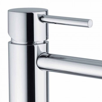 Basin Mixer with Spout 200 mm Center Distance in Brass Made in Italy - Liro