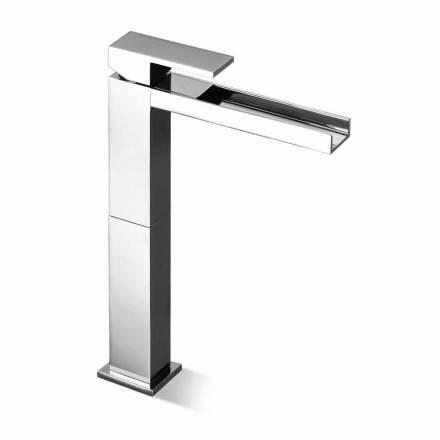 Modern Long Spout Basin Mixer Without Drain Made in Italy - Bibo