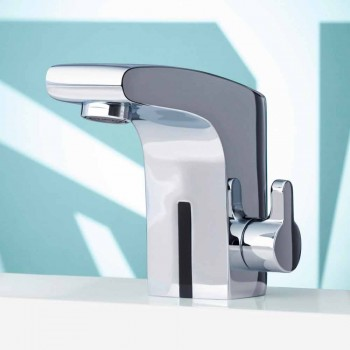 Modern Basin Mixer with Infrared Sensor in Chromed Metal - Gonzo