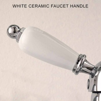 Classic Style Basin Mixer in Handmade Brass with Lever - Noriana