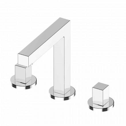 Luxury Chrome Brass Three-Hole Bathroom Sink Mixer - Girino