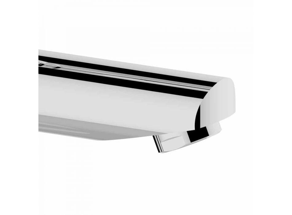 Modern Bathroom Sink Mixer in Chrome-Plated Metal - Zanio