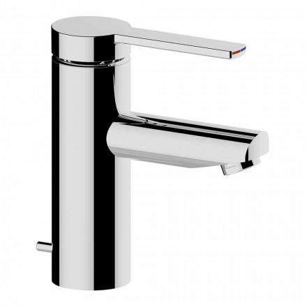 Bathroom Basin Mixer in Brass Chrome Finish, Fine Design - Zanio