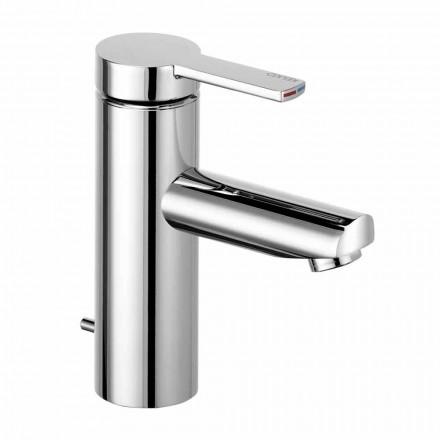 Single-lever Bathroom Basin Mixer in Brass, Precious Design - Zanio