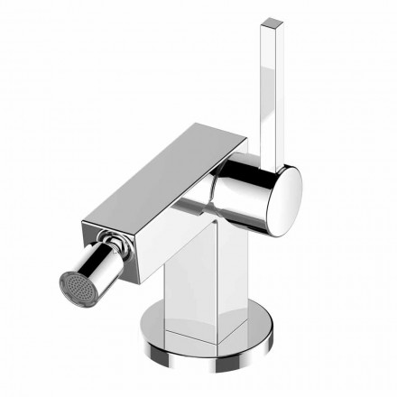 Single Lever Bidet Mixer in Chrome Brass Luxury Design - Girino