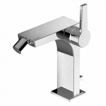 Modern Single-lever Bidet Mixer in Metal with Drain - Etto