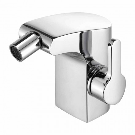 Single Lever Bidet Mixer in Brass Chrome Finish, Luxury - Gonzo