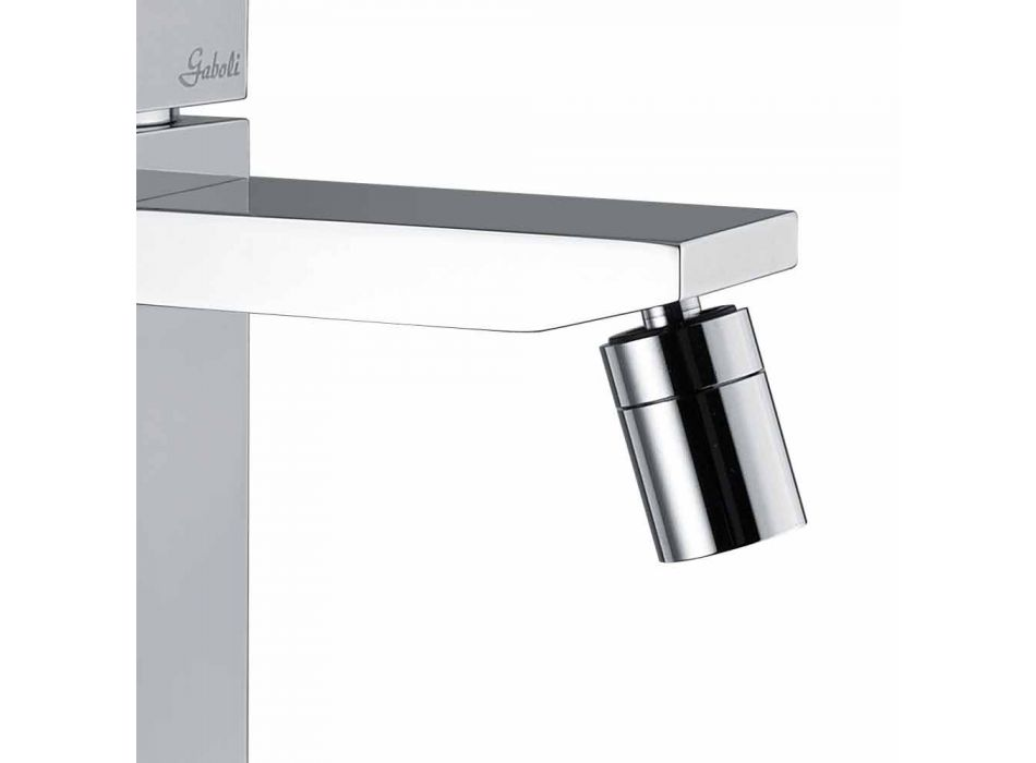 Bidet Mixer in Chrome Finish with Drain Made in Italy - Medida