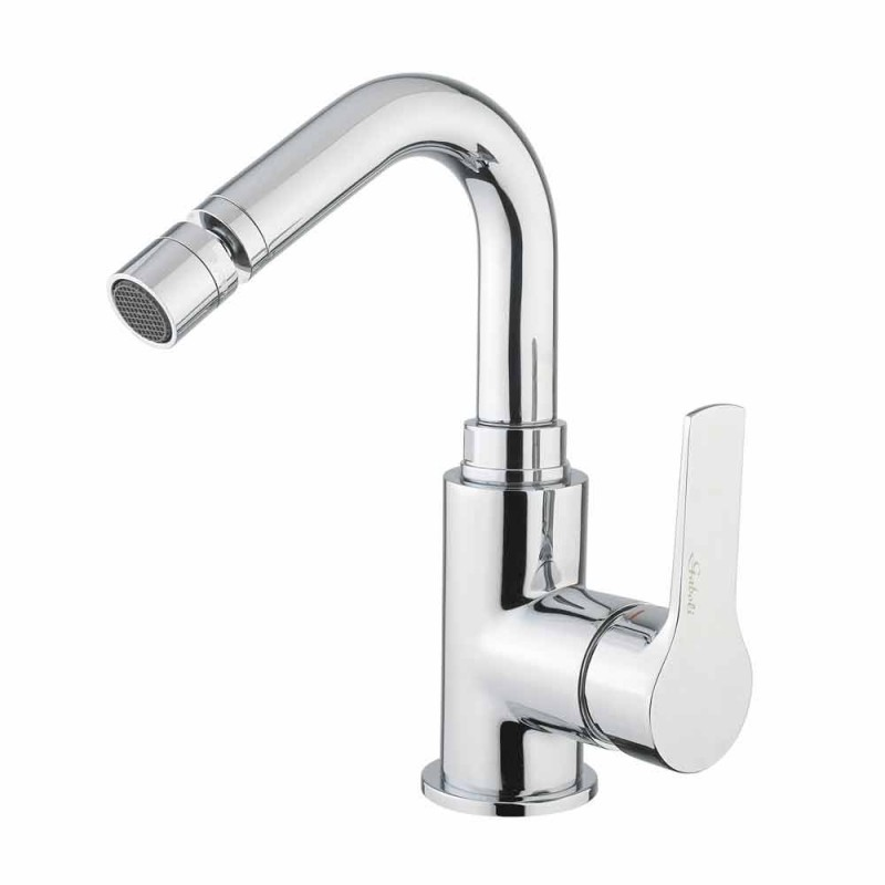 Chrome-Plated Brass Bidet Mixer Without Drain Made in Italy - Sindra