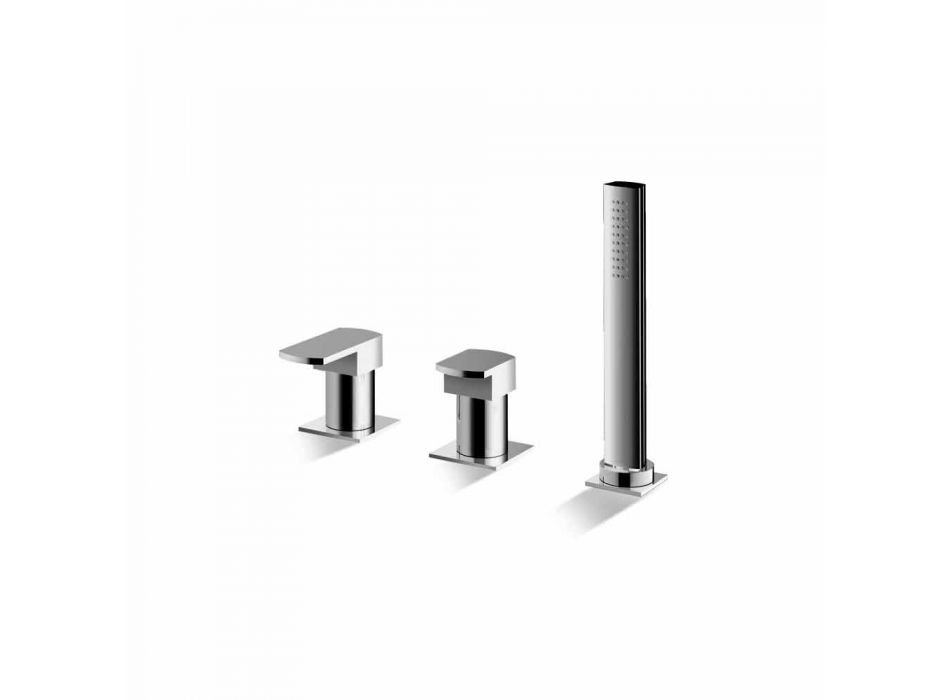 Chrome-plated 3-Hole Bathtub Mixer Made in Italy - Sika