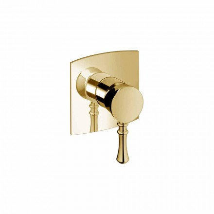Built-in Shower Mixer in Brass Modern Design Made in Italy - Neno