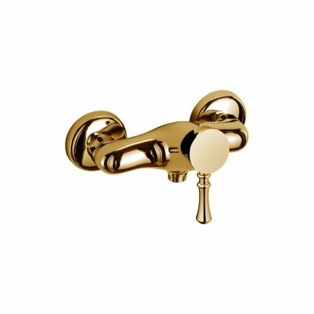 Design Mixer for Outdoor Shower in Brass Made in Italy - Neno