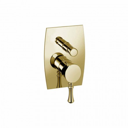 Design Brass Shower or Bathtub Mixer Made in Italy - Neno