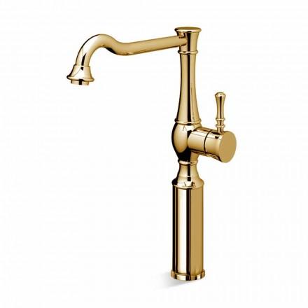 High Barrel Bathroom Basin Mixer 13 cm Extension Made in Italy - Neno