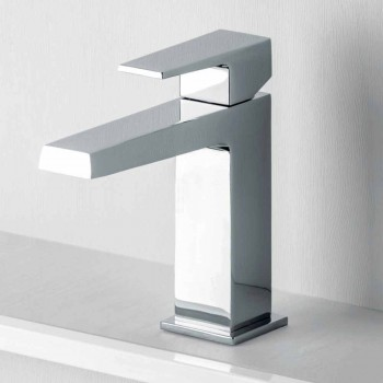 Bathroom Basin Mixer with Drain in Chrome Finish Made in Italy - Galla