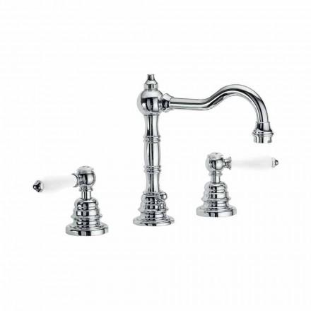 Countertop Bathroom Washbasin Mixer in Chromed Brass Made in Italy - Binsu
