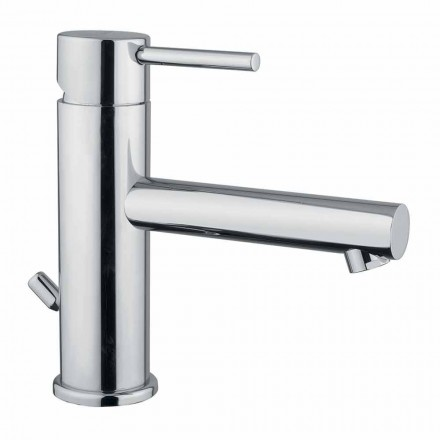 Modern Chrome Brass Bathroom Sink Mixer Made in Italy - Ermia