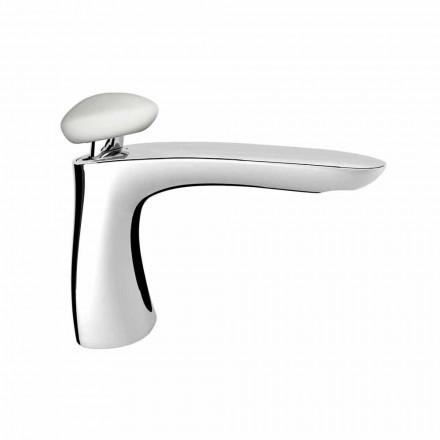 Modern Brass Bathroom Sink Mixer Made in Italy - Besugo