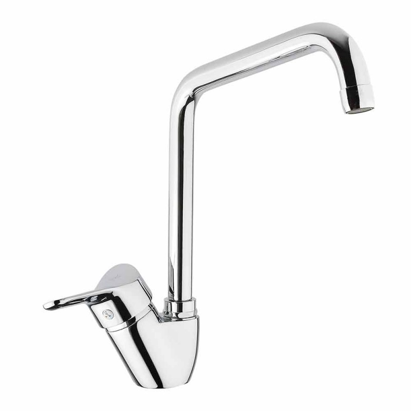 Adjustable Chrome Brass Kitchen Sink Mixer Made in Italy - Cino