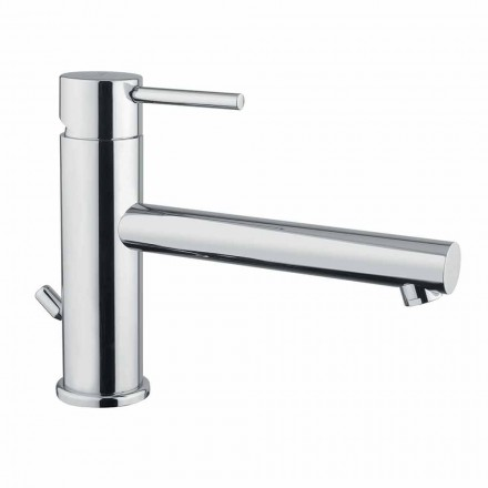 Washbasin mixer in chromed brass with drain made in Italy - Ermia
