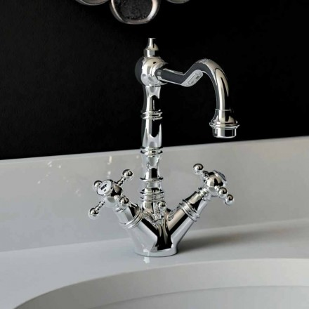 Single-hole basin mixer in chromed brass Made in Italy - Binsu