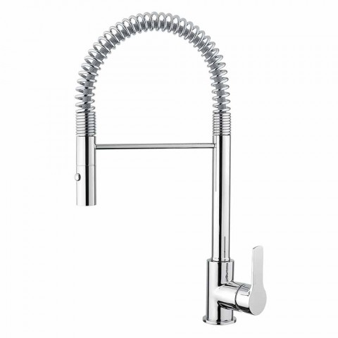 Adjustable Basin Mixer with Brass Spring Made in Italy - Cardio