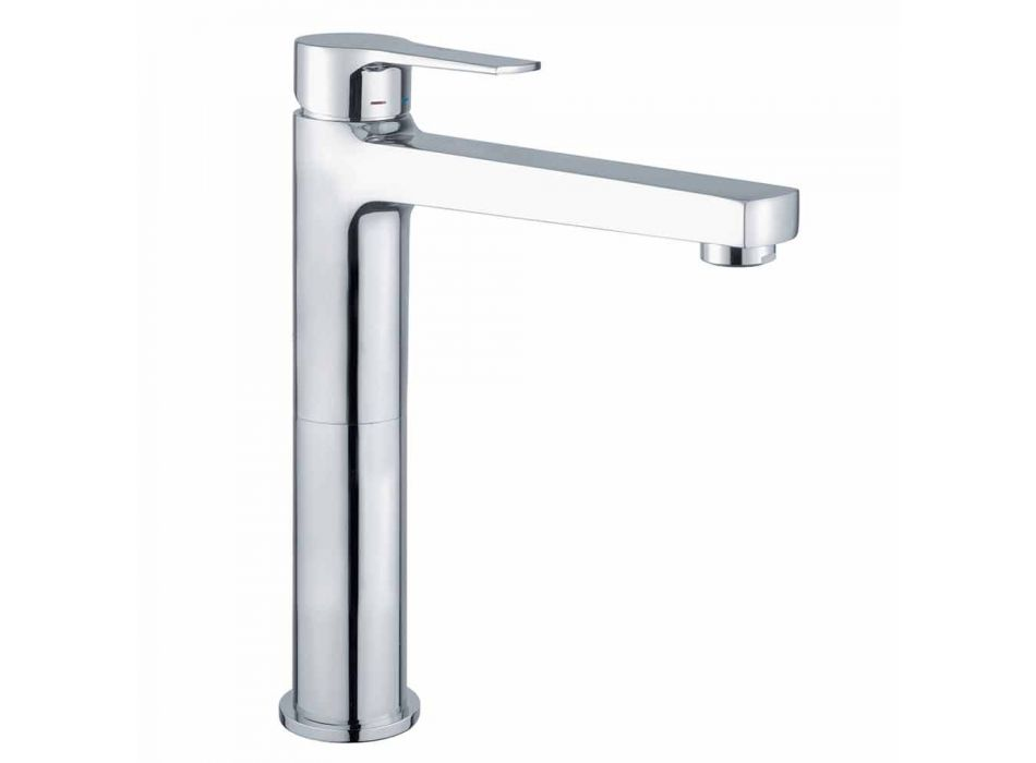Brass Extended Basin Mixer Without Drain Made in Italy - Sindra