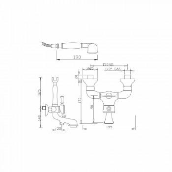 Brass External Bath Mixer Made in Italy - Neno