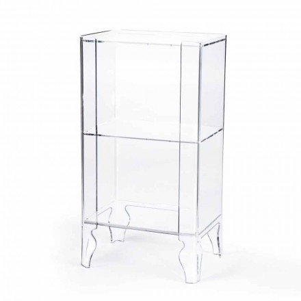 Modern design storage cabinet Simon made of clear methacrylate