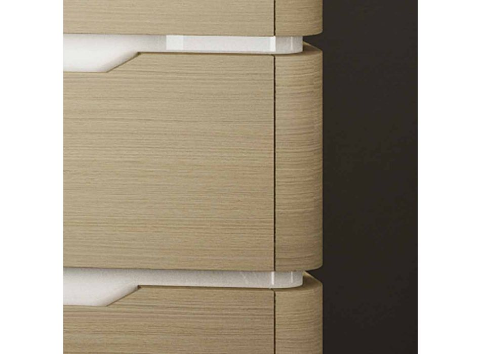 Bathroom cabinet with 3 drawers modern Arya wood, made in Italy