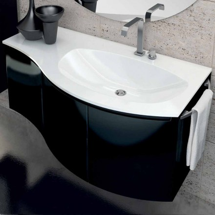 Gioia modern bathroom vanity with 3 doors made of wood, made in Italy