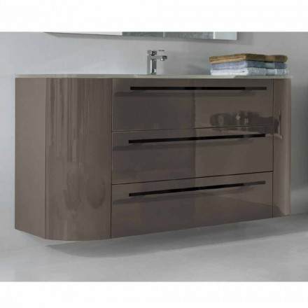 Happy modern bathroom basin cabinet with 2 doors and 3 drawers