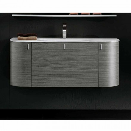 Happy modern wall hung bathroom basin cabinet, 2 doors and 1 drawer
