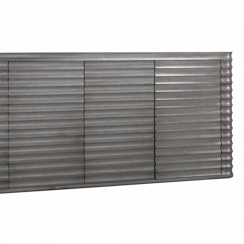 Cabinet with 4 doors in molded wood design, L230xP49 cm, Dana