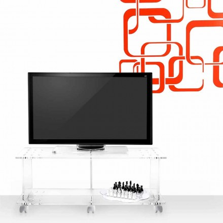 Modern design TV stand made of transparent plexiglass Mago