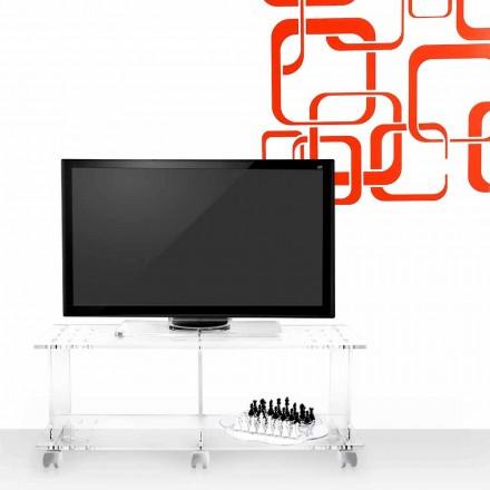 Modern design TV stand made of transparent plexiglass Mago