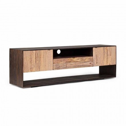 Homemotion Tv Stand in Mango Wood and Veneered Wood - Amilcare
