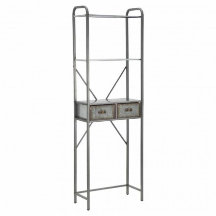 Industrial Vintage Style Iron Bathroom Cabinet with Drawers - Pome