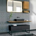 Bathroom Furniture Composition 150 cm in Luxury Natural Wood - Alide