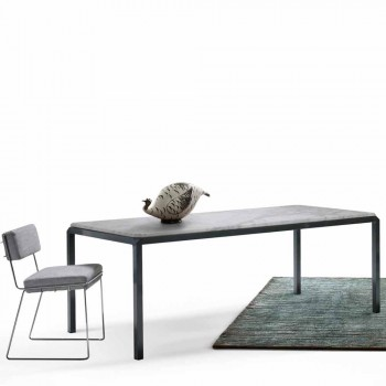 My Home Bebop design table white marble H74xL210cm made in Italy