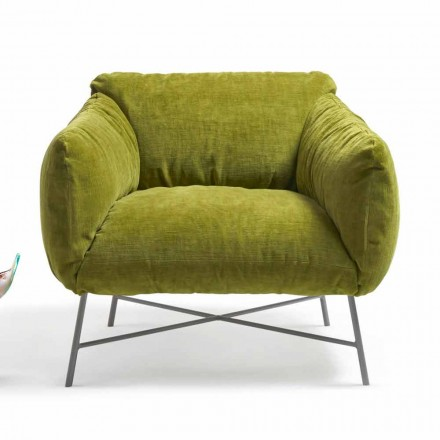 Velvet armchair Jolie My Home, manufactured in Italy vintage design